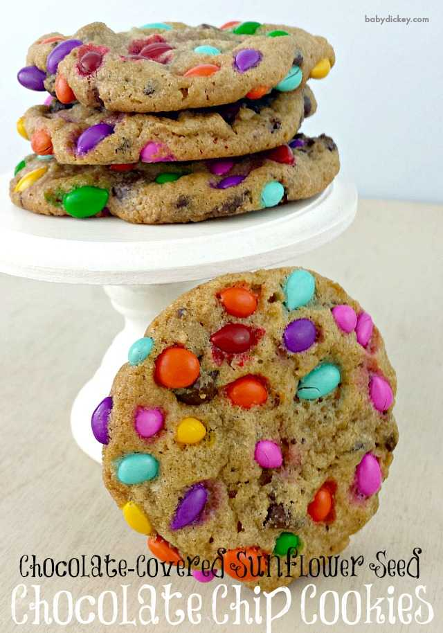 Chocolate Covered Sunflower Seed Chocolate Chip Cookies